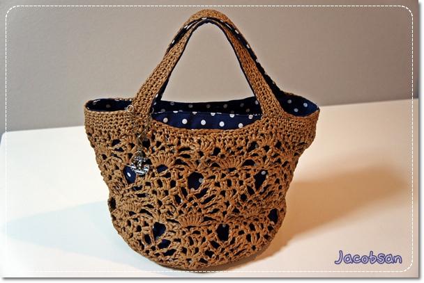 パイナップル編みのバッグ