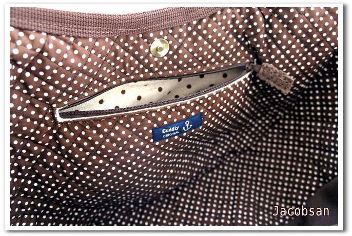 バッグのファスナーポケット