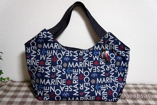 マリンとデニムのバッグ