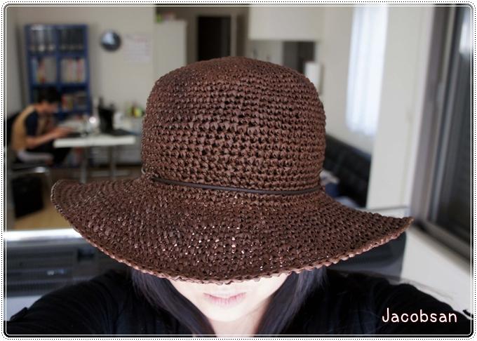 幅広帽子試着
