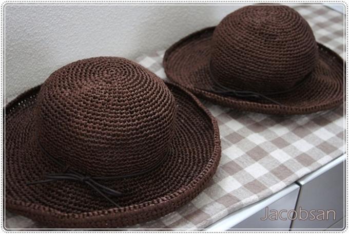 幅広帽子2個